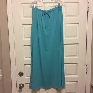 Turquoise Maxi Skirt